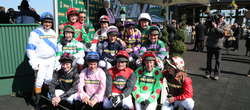 John Smith's Aintree Legends jockey line up 2013