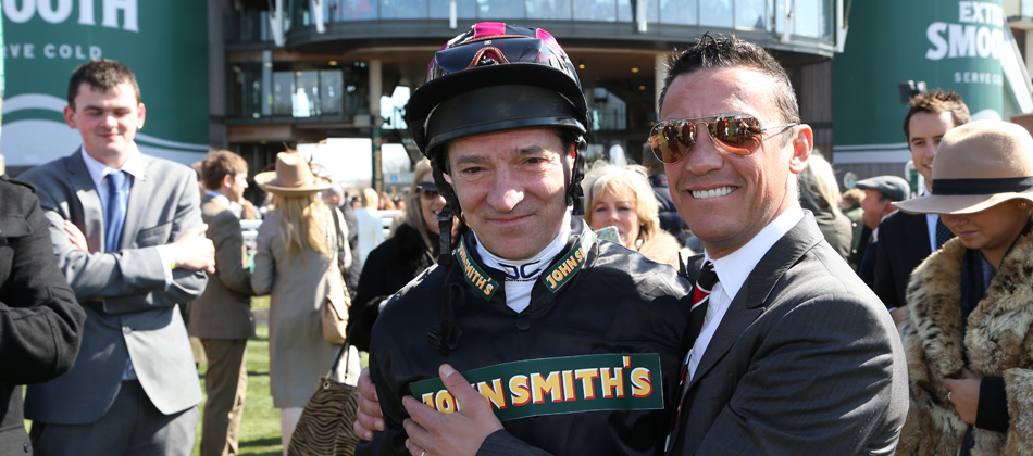 Michael Hills  with Frankie Dettori at Aintree 2013