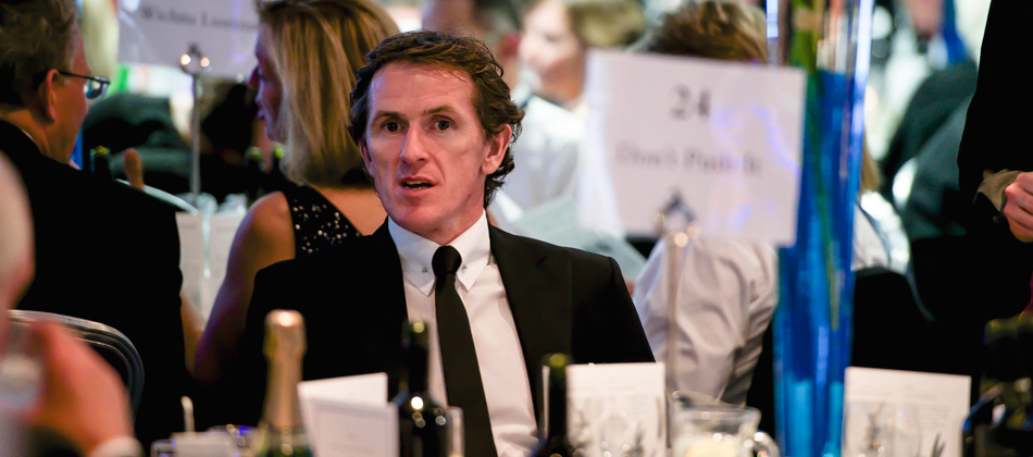 AP McCoy enjoying  'An Evening with Jonjo O'Neill', September 2013