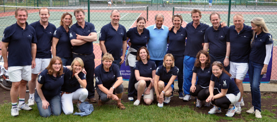 Bob Champion with the 2014 Tennis Tournament Committee