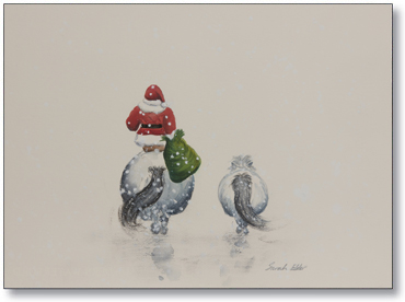 Back of Card: Ho Ho Ho, Off We Go by Sarah Elder